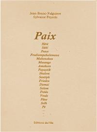 Couverture d'ouvrage: Paix